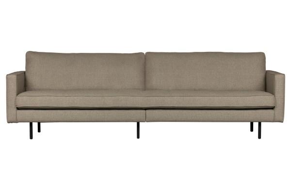 Sofa Rodeo 3-Sitzer 275 cm - 2er Optik - Stoff Braun-Melange