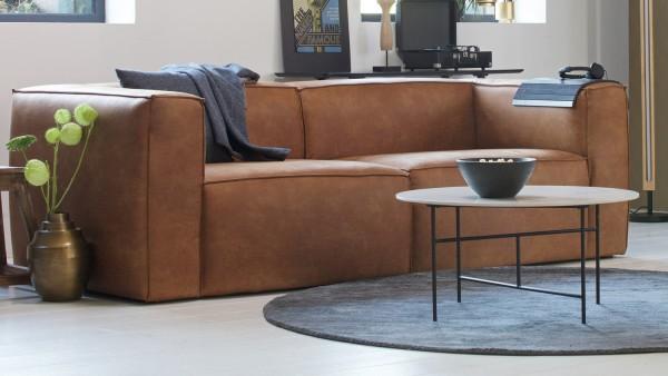 Sofa Bean 3,5-Sitzer - Leder Cognac